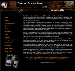 2005 Derren Brown website
